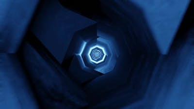 Blue Collapsing Tunnel