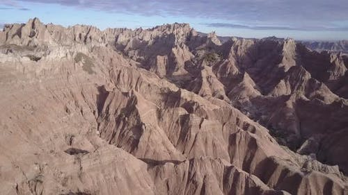 Badlands Western Region in Spring Erosion Landform Bare Ground Clay Topography Geology