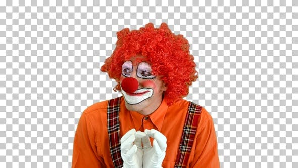 Cunning clown is up to something Having a plan, Alpha Channel