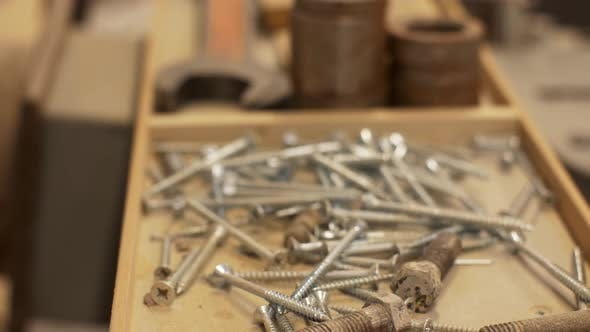 Thumbnail for Wood Screws and Tools in Box at Workshop 20