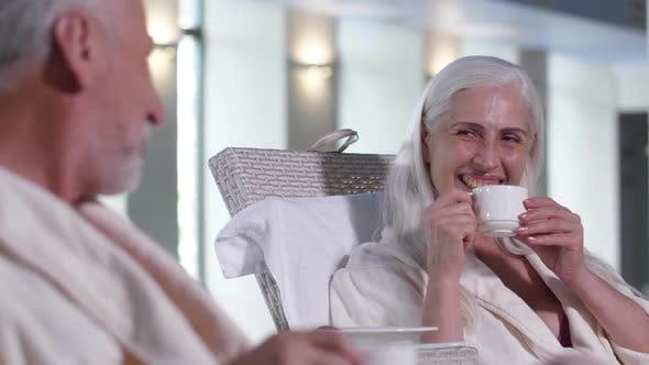 Thumbnail for Positive Elderly Couple Relaxing in Spa Hotel