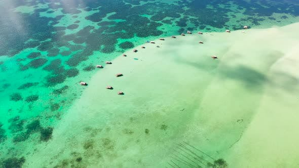 Thumbnail for Manlawi Sandbar Floating Cottages in Caramoan Islands.