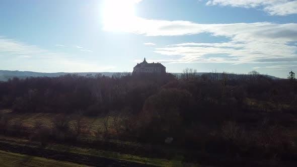 Thumbnail for Ukraine Castle in Olesko Aerial, Oleskiy Zamok