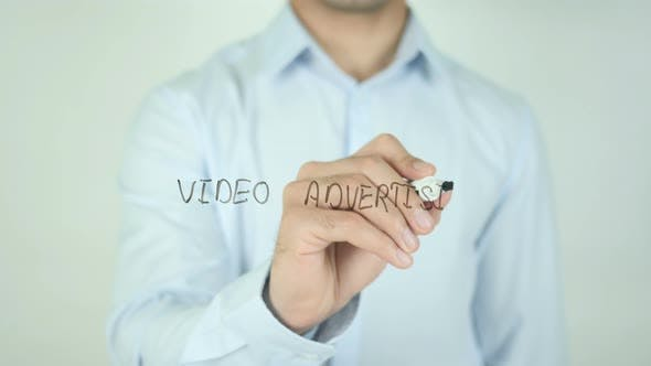 Thumbnail for Video Advertising, Writing On Transparent Screen