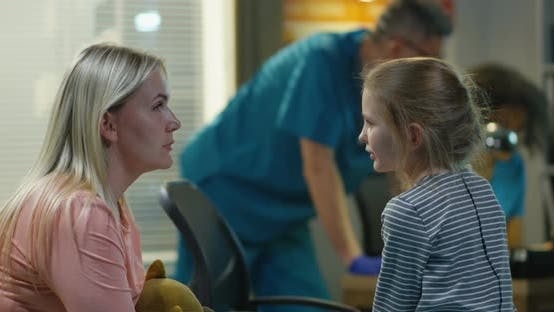 Thumbnail for Mother Encouraging Daughter in a Hospital