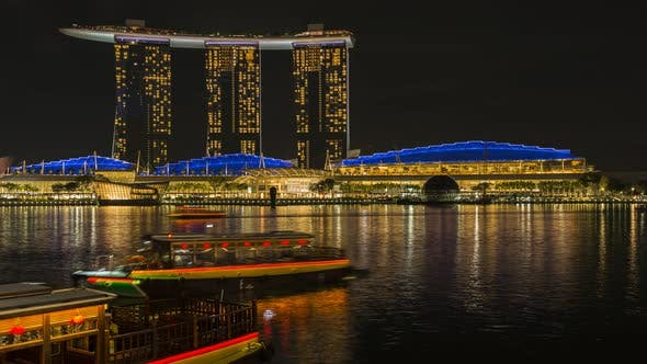 Thumbnail for Marina Bay Sands in Singapore at the Night