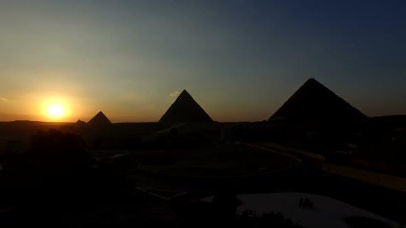 Timelapse of sunset at Giza pyramids