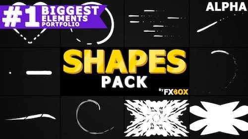 Pack de formes de dessin animé | Graphiques animés Pack