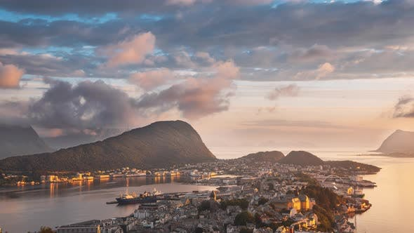 4K Alesund, Norway Amazing Timelapse Time Lapse