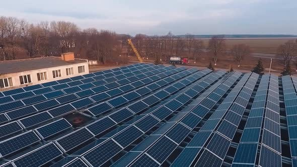 Solar powered factory structure