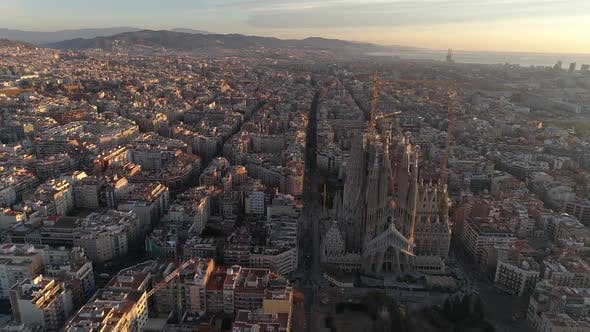 Thumbnail for Barcelona City on Morning Day