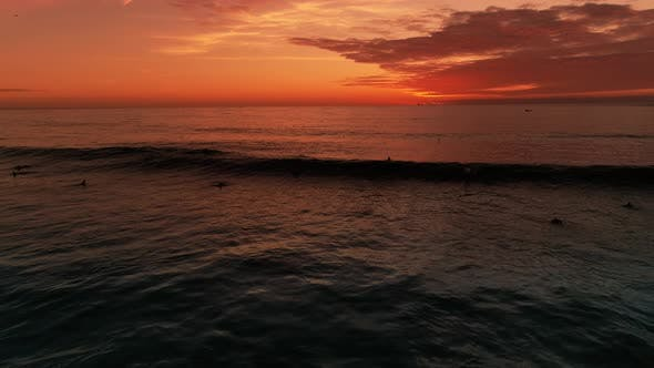 Thumbnail for Romantic Sunset and Evening Surf In The Ocean