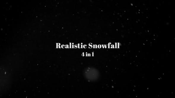 Realistic Snowfall - 4 In 1