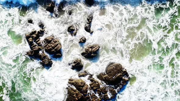 Thumbnail for Sea Waves are Colliding with Underwater Reefs