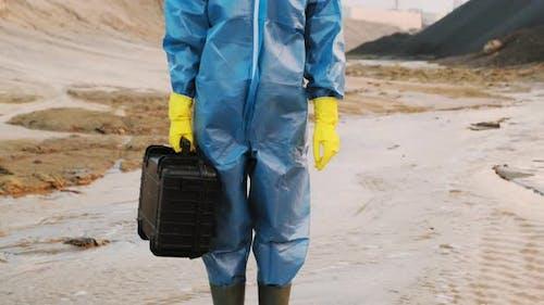 Portrait Of Ecological Specialist In Danger Zone