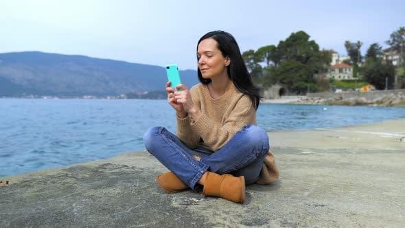 Thumbnail for Traveller Using Mobile Chatting Online