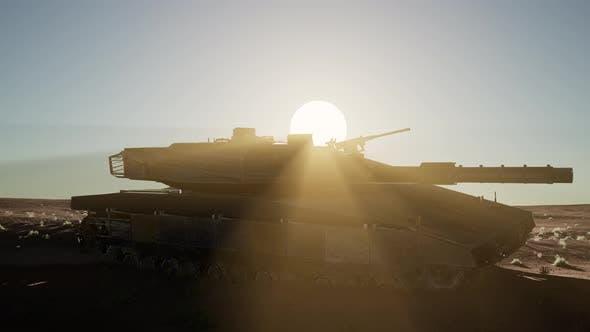 Thumbnail for Old Rusty Tank in Desert
