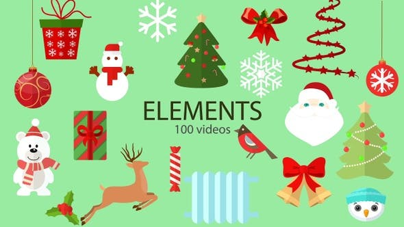 Thumbnail for Christmas Winter Icon Elements Pack