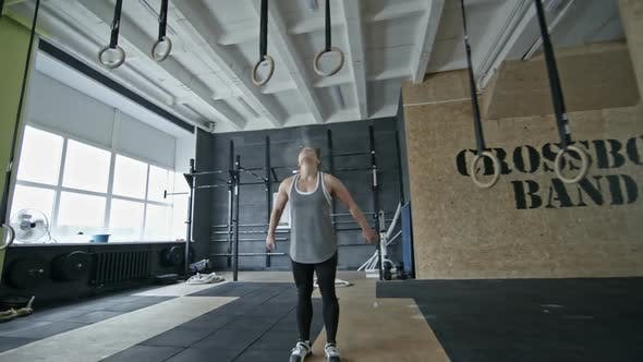 Thumbnail for Sporty Woman Doing Pull-Ups on Rings