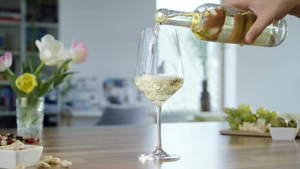 Thumbnail for Filling Glass With White Wine