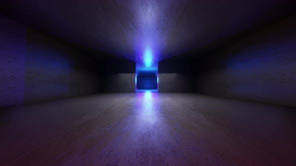 3D Animation of a dark Interior