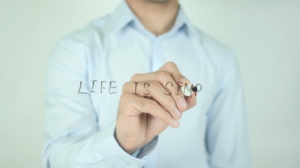 Thumbnail for Life Is Simple, Writing On Screen