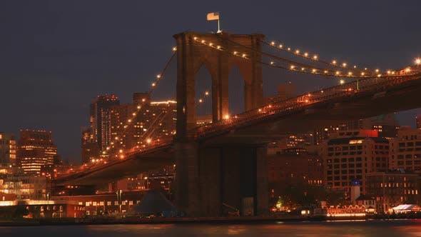 Thumbnail for Brooklyn Bridge Sunset In New York City