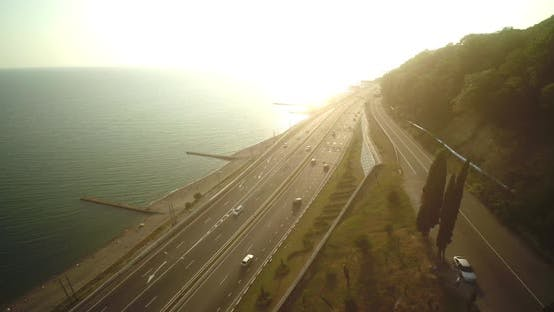Thumbnail for Road Traffic on the Seashore