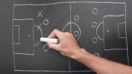 Soccer game tactics. Football tactics