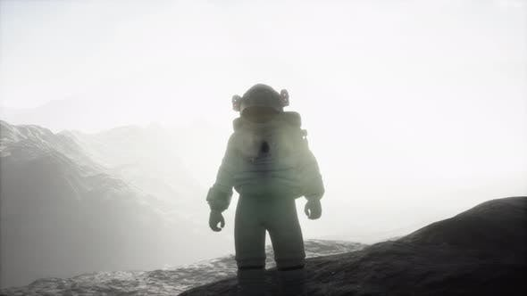 Thumbnail for Astronaut on Another Planet with Dust and Fog