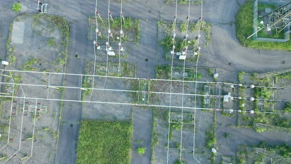 Electric Distribution Station Aerial View