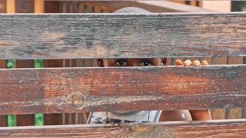 African Boy Refugee After Fence