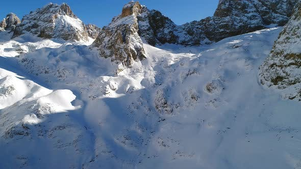 Thumbnail for Aerial View Of Snowy Mountains