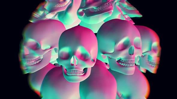 Jelly rainbow skulls
