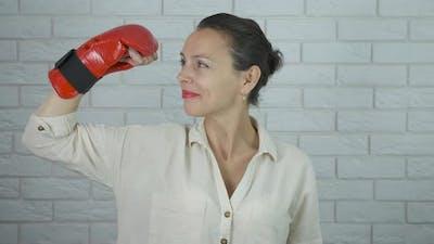 Sportswoman in Gloves