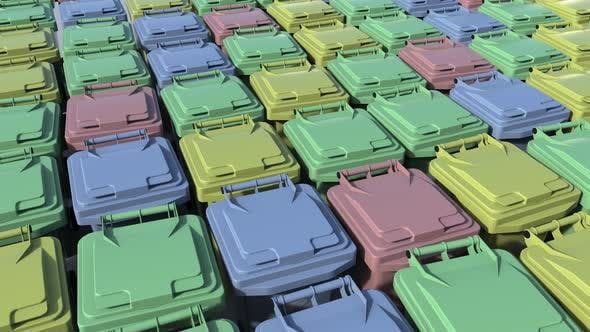 Cover Image for Multicolor Trash Containers