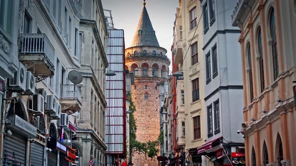 Thumbnail for Galata Tower Seen Between Buildings