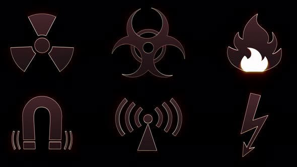 Danger Symbols Collection