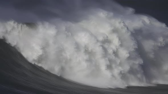 Cover Image for Large Wave Rolling on Surface of Stormy Ocean