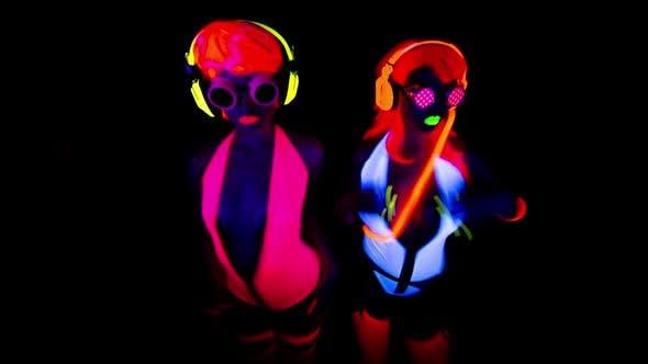 Thumbnail for Ultra Violet Disco Glow Gogo Dancer Female Raver