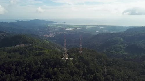 Mobile phone communication tower