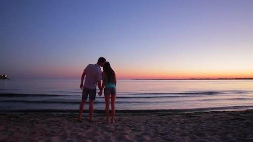 Romantic Date at Sunset.