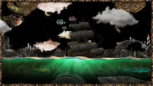 Thumbnail for Steampunk The Golden Sea