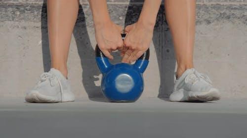 Woman Lift Small Heavy Weight Concept Burden