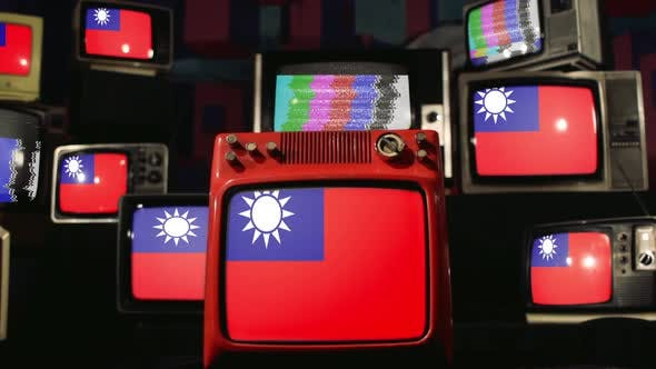Thumbnail for Flags of Taiwan and Vintage Televisions.