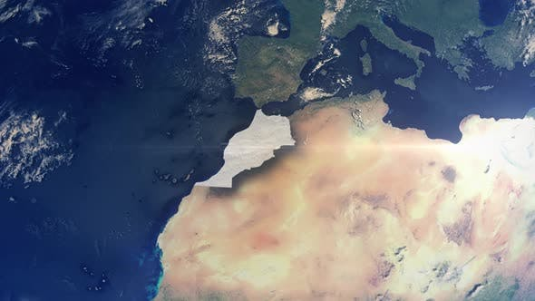 Thumbnail for Realistic Earth Zoom Highlight Country Morocco