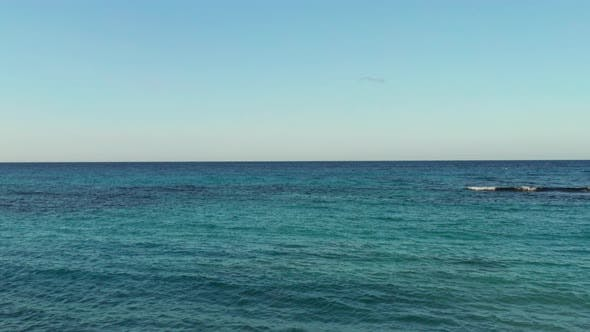 Thumbnail for Wide View Of Caribbean Ocean With Blue Sky