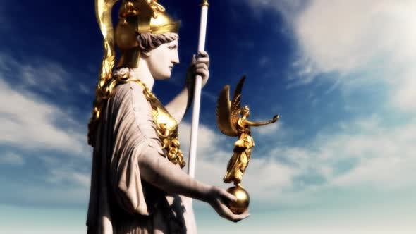 Pallas Athena Sculpture