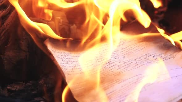 Thumbnail for Paper Burning When in the Bonfire Flame