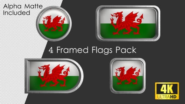 Cover Image for Framed Wales Flag Pack